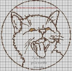 cat cross stitch chart