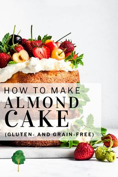 With a deep, intense almond flavor and a decadent texture, this almond flour cake is easy to make and sure to leave your guests happy. It's naturally grain-free and gluten-free, and has a marvelously rich texture and deep almond flavor. Top it with summer fruits for a spectacular dessert.