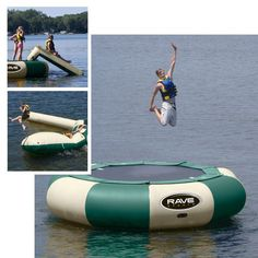 15 ft. RAVE Sports Northwoods Aqua Jump Eclipse Water Trampoline Package - RSI339-6