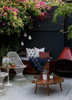outdoor fireplace #decor #outdoors #garden #jardins