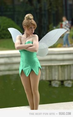 Tinkerbell - Cosplay and Costumes Has the pout down pat. Sexy Halloween Costumes, Cute Costumes, Halloween Cosplay, Cosplay Costumes, Halloween Party, Costume Ideas, Sexy Disney Costumes, Unique Costumes, Woman Costumes