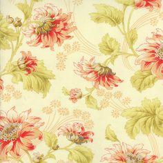 Honeysweet Ivory Autumn Rose Main Fabric   by QuiltsFabricandmore, $10.49