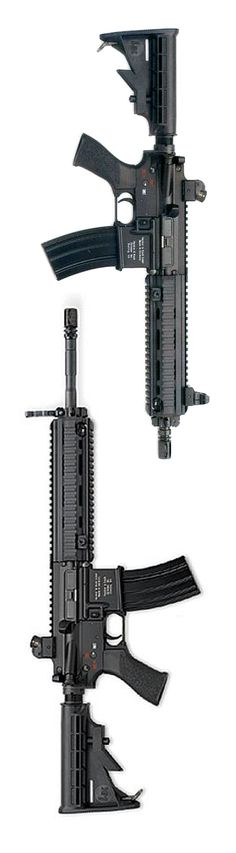 HK416 carbine with 14.5 and 10.5 inch variants.
