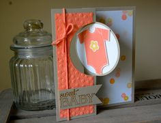 Julie Kettlewell - Stampin Up UK Independent Demonstrator - Order products Something for Baby Paper Cards, Folded Cards, Swing Card, Step Cards, New Baby Cards, Baby Shower Cards, Cool Cards, Handmade Baby, Creative Cards