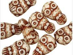Owl Czech Pressed Glass Beads, You Pick Colors | evezbeadz - Jewelry Supplies on ArtFire