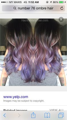 Ombré purple - Looking for Hair Extensions to refresh your hair look instantly?…