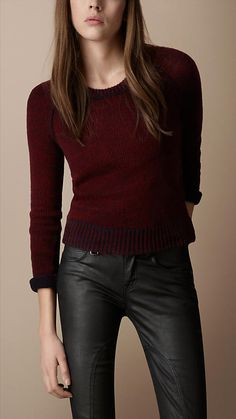 Burberry Brit Textured Wool Cashmere Sweater