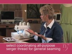 Favorite Sewing Projects Nancy Zieman shows you her favorite serger techiniques on Baby Lock's Evolution serger - Serger Patterns, Serger Stitches, Serger Thread, Serger Sewing, Bernina Serger, Serger Projects, Diy Sewing Projects, Sewing Hacks, Sewing Tutorials