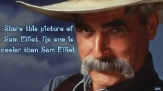 Sam Elliott is best known as the rugged, handsome western actor with the tantalizing deep voice. This is the unknown life story of Sam Elliott. Sam Elliott Pictures, Sam Eliot, Gorgeous Men, Beautiful People, Pretty People, Jesse Stone, Handlebar Mustache, Tom Selleck, Star Wars