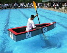 Cardboard Boats With Duct Tape