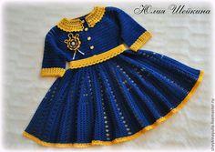 3a44a6f528f3 Одежда для девочек, ручной работы. Ярмарка Мастеров - ручная работа. Купить  Платье крючком, вязаное платье, платье для девочки. Handmade.