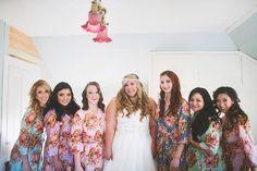 1.4.14 Heather Armstrong Photography. Ponderosa Ridge Ranch Anderson, Ca. Winter Barn Wedding. Bridesmaids robes