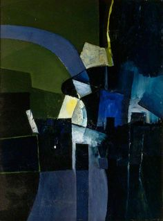 'Road Through a Village' by Keith Vaughan, 1956 (oil on board) Aberdeen Art Gallery, Abstract Art Images, Manchester Art, Glasgow School Of Art, Art Moderne, Art Uk, Your Paintings, Abstract Landscape, Painting & Drawing