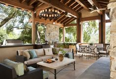 A custom open air living space by Arterra Landscape Architects and Russ Dotter