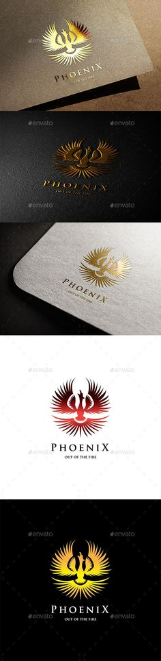 Phoenix Logo — Vector EPS #branding #red • Available here → https://graphicriver.net/item/phoenix-logo/11330098?ref=pxcr