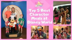 Character dining is a great way for families to see characters without long lines. Here are the five best character dining experiences at Disney World Disney World Hotels, Disney Destinations, Disney Vacations, Disney Food, Walt Disney, Be Our Guest Disney, Classic Disney Characters, Florida Resorts, Disney Dining