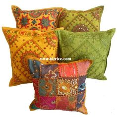 embroidered bohemian pillows