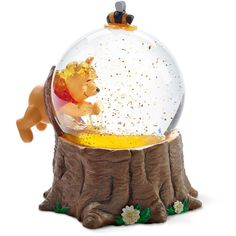 Winnie the Pooh Musical Snow Globe by Precious Moments ($50) ❤ liked on Polyvore featuring home, home decor, holiday decorations, precious moments, music themed home decor, music snow globe and music home decor