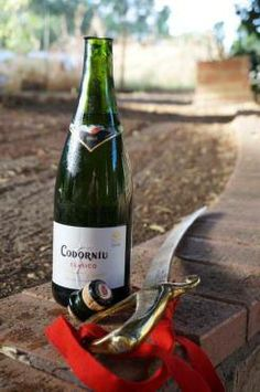 Codorníu Clásico Cava from Spain with Champagne Sabre