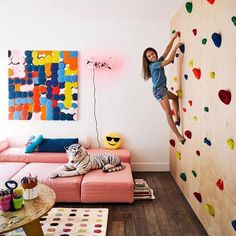 How to recreate this jaw-dropping playroom at home (and on a budget!). @amytastley