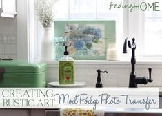 Creating Rustic Art with Mod Podge Photo Transfer Medium