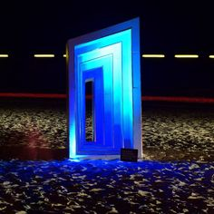 """Enter through the """"Space Time Continuum """" if you dare. One of many creative sculptures on display at the Swell Sculpture Festival currumbin beach on the goldcoast. Well worth a look day or night. Festival runs from 11-20th September 2015. Art sculpture by Clayton Thompson I believe.  #sculpture #swellfestival #swellfestival2015 #swellsculpturefestival #art #swell2015 #spacetimecontinuum #portal #goldcoast #visitgoldcoast #currumbin #ig_worldpics #ig_Australia #urbanart #nightphotography…"""