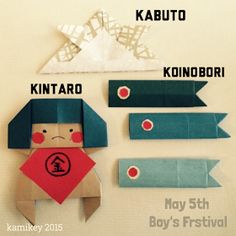"""子どもの日の折り紙金太郎こいのぼり"" Diy Crafts For Kids, Fun Crafts, Art For Kids, Craft Ideas, Boys Day, Child Day, Origami Paper, Diy Paper, Paper Craft"