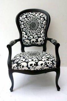 skull pattern chair