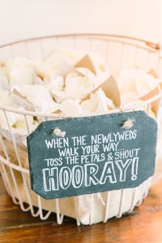 When the newlyweds walk your way, toss the petals and shout hooray!