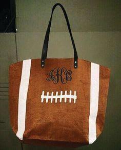 Football Monogram Canvas Bag by UnlimitedImprints on Etsy                                                                                                                                                     More