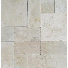 MS International Tuscany Beige Pattern 16 Sq. ft. Tumbled Travertine Paver Kit (10 Kits / 160 sq. ft. / Pallet)-LPAVTBEI10KITS - The Home Depot