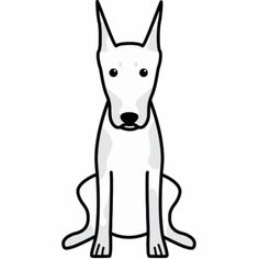 Doberman Pinscher Dog Cartoon Cut Outs