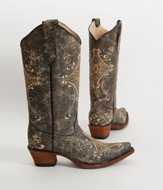 Circle G by Corral Crackle Cowboy Boot - Women's Shoes in   Buckle