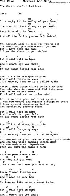 Mumford & Sons. The Cave. Pray for the oppressed and the oppressors?