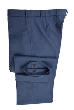 Vitale Barberis Canonico - 120s 2 Ply Slate Blue - Bespoke Shirts by Luxire. Custom made to Perfection