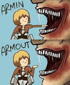 shingeki no kyojin, attack on titan, snk, armin arlert Otaku Anime, Anime Meme, Funny Anime Pics, Manga Anime, Anime Naruto, Naruto Art, Anime Chibi, Kawaii Anime, Armin Titan Form