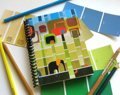 Check out the 31 ways paint chips are used in all kinds of projects! (thank goodness I've been collecting paint chips for years! Paint Chip Art, Paint Chips, Fun Crafts For Kids, Crafts To Make, Diy Crafts, Decorate Notebook, Paint Swatches, Paint Samples, Camping Crafts