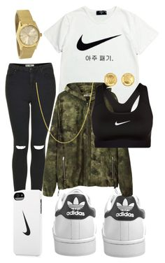 """tickkkkkkk"" by kushxkisses ❤ liked on Polyvore featuring adidas Originals, NIKE, Topshop, Michael Kors, Acne Studios and Fremada"