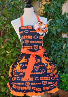 DA Bears Chicago NFL Football Print Womens by OliviabyDesign,