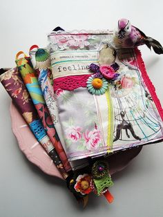 Sew a Fabric Book Cover, add handles to both sides,and elastic on ...