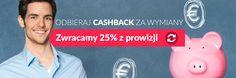 Amronet.pl. Wymieniaj walutę i odbieraj Cashback. Wpisz swój email a otrzymasz 25% z prowizji od każdej swojej wymiany