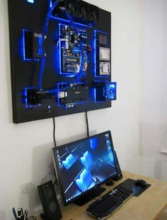 Wall-mounted water cooled PC
