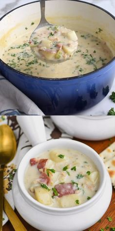 The Best New England Clam Chowder - Soup Rezepte Clam Chowder Soup, Clam Chowder Recipes, Crab Recipes, Chicken Soup Recipes, Dinner Recipes, Cabby Shack Clam Chowder Recipe, Thick Clam Chowder Recipe, Red Lobster Clam Chowder Recipe, Fish Chowder Recipe New England