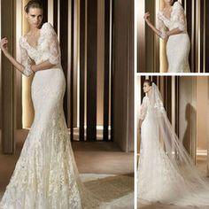 spanish style mermaid tail lace long sleeve wedding dress bridal 2013 wk64 buy custom made