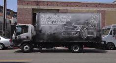 reverse graffiti mini garage butler shine stern partners ambient marketing clean tag truck promotion auto USA 2 Moss Graffiti, Reverse Graffiti, Green Marketing, Paper Plane, Top 5, Creative Advertising, Spring Cleaning, Street Art, Mini