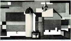 Benton spruance, simple shapes both delineate forms and take on 2-d significance