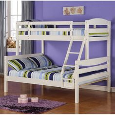 Have to have it. Sunset Twin Over Full Bunk Bed - White $559.99