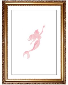 Mermaid Print, DIY Printable Pink Watercolor Disney Princess Ariel Mermaid Print Picture Art, Girls Nursery Art, Ocean Beach Decor, Kids Art by JoshandDavids on Etsy https://www.etsy.com/listing/274861164/mermaid-print-diy-printable-pink
