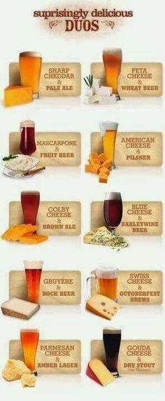 Birra e formaggi
