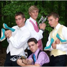 James Bond with their prom dates' shoes!